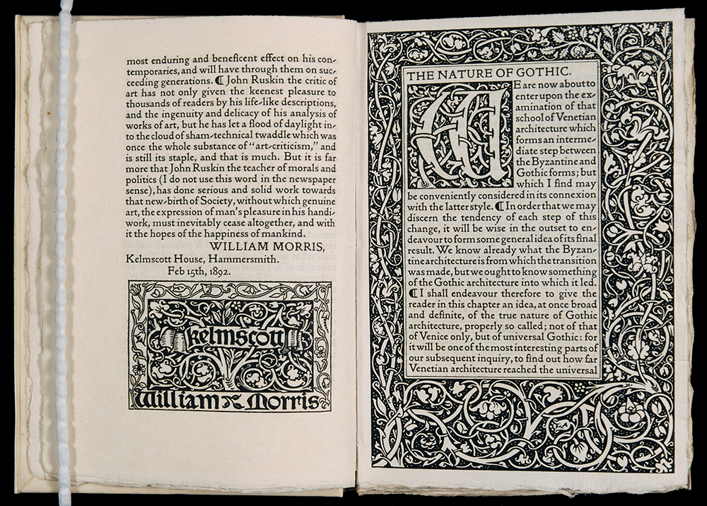 6. WIlliam Morris, Kelmscott Press - Nature of Gothic, 1892. Image © the Guild of St George, Museums Sheffield..jpg