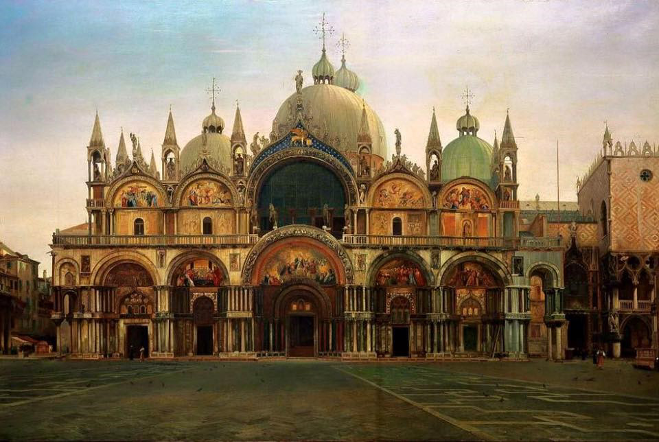 Download Western Façade of the Basilica of San Marco, Venice, Italy