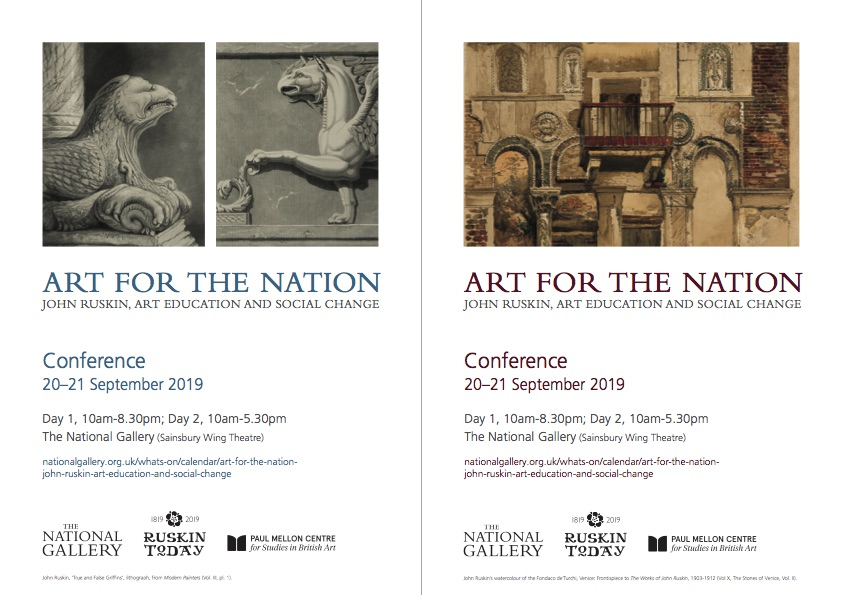 National Gallery Ruskin conference, Sept 2019 - The Guild of